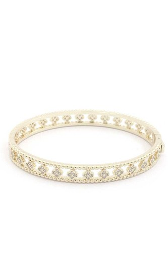 Quatrfoil Shape Metal Bracelet