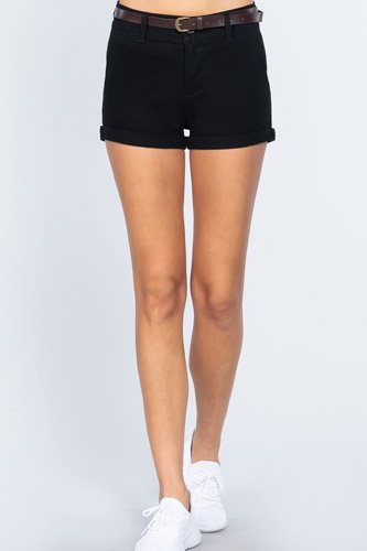 Twill Belted Short Pants
