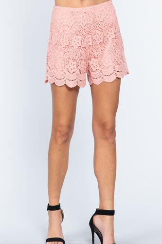 Crochet Lace Woven Short