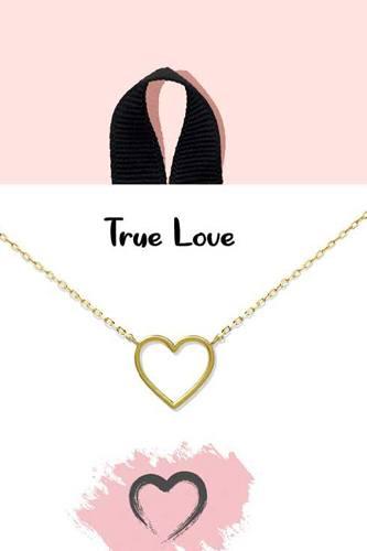 18k Gold Rhodium Dipped True Love Pendant Necklace