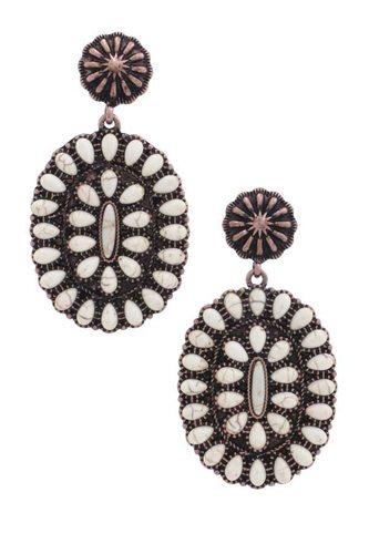 Western Style Concho Earring