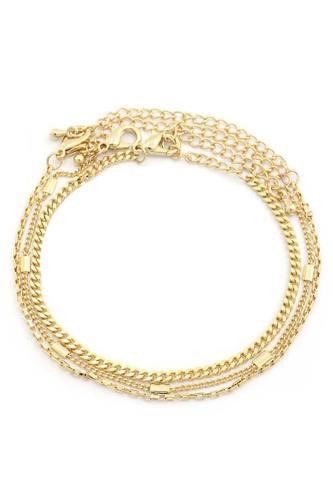 Sodajo Curb Link Metal Bracelet Set