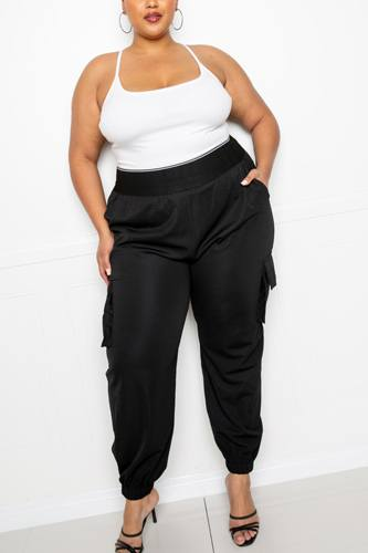 Utility Jogger Pants With Elastic Band