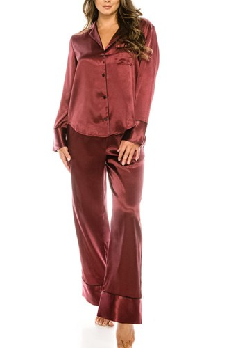 2 Pc Satin  Pj Set