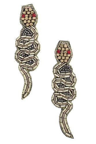 Snake Seed Bead Earring