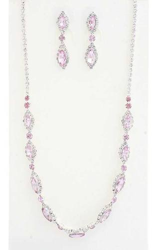 Elegant Marquise Rhinestone Loop Necklace