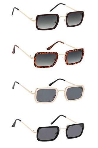Modern Unisex Combo Small Retro Frame Sunglasses