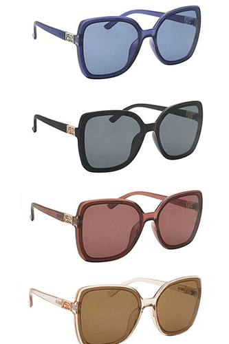 Chic Side Metal Accent Sunglasses