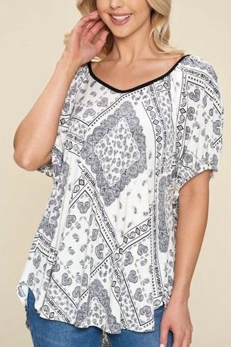 Paisley Venechia Printed Fashion Top