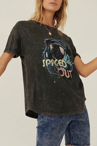 A Mineral Washed Graphic T-shirt