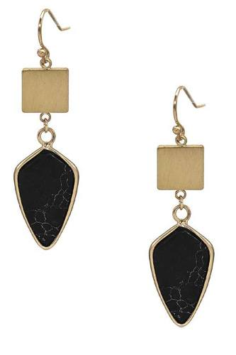 Fashion Marbling Stone Dangle Earring