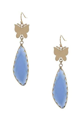 Fashion Butterfly Clear Stone Dangle Earring