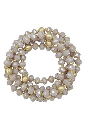 Fashion Glass Bead Multi Stretch Bracelet