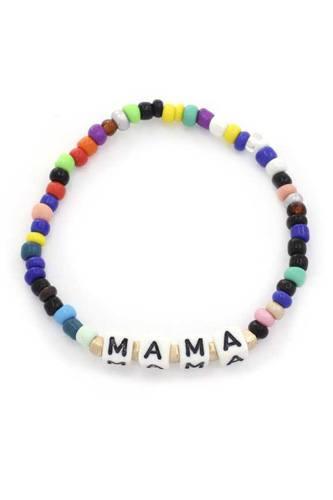 Mama Quote Beaded Stretch Bracelet