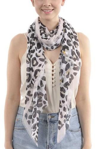 Fashion Leopard Skinny Scarf