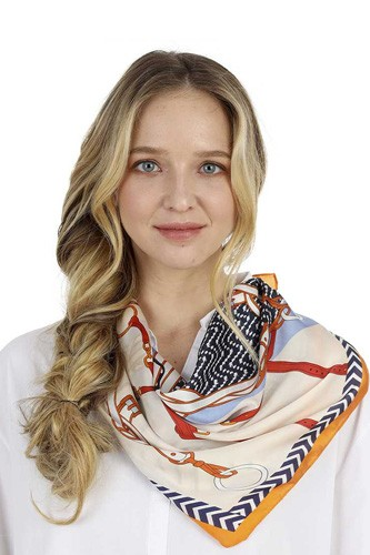 Fashion Pattern Print Neck Scarf