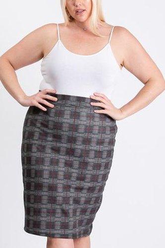 Black/grey Glen Plaid Skirt