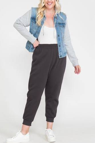 Waistband Solid Jogger Pants