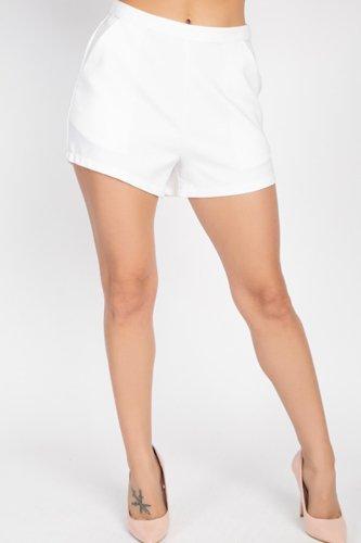 Back Zip-up Mini Shorts