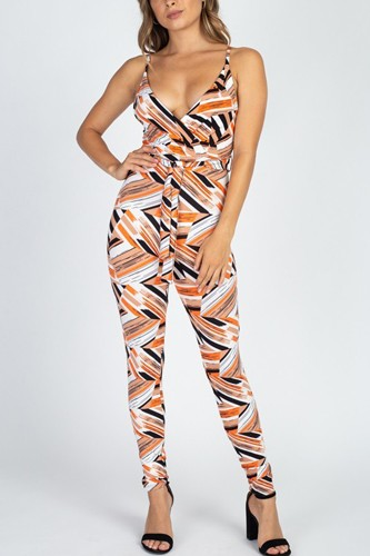 Printed Bodycon Jumpsuit