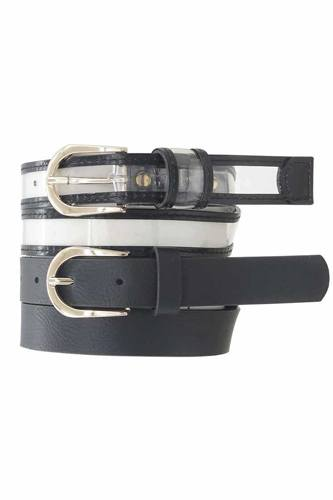 Black Clear & Color Duo Belt Set