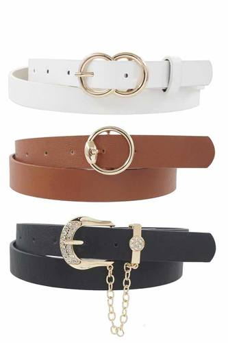Infinity Circle U With Chain Drop Trio Belt