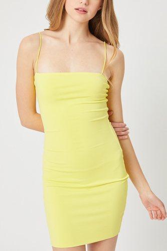 Double Side Knit Solid Mini Dress