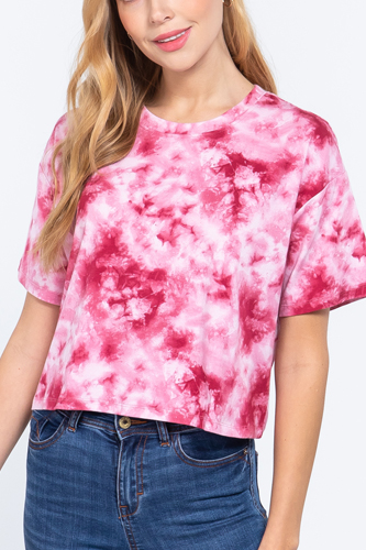 Tie-dye Cotton Jersey Crop Top