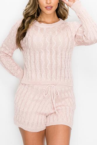 Sweater Long Sleeves & Short Set