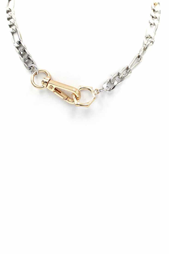 Metal Chain Two Tone Necklace