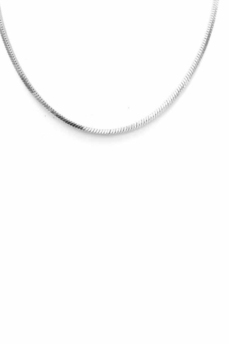 Herringbone Metal Chain Necklace