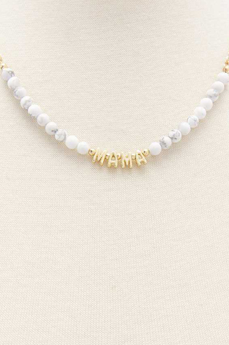 Mama Beaded Necklace