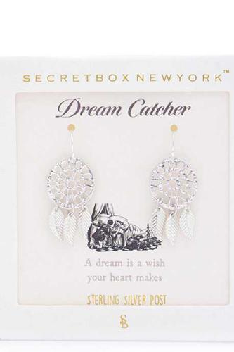 Dream Catcher Gold Dipped Earring