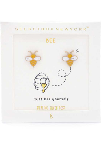 Bee Gold Dipped Earring