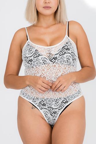 Plus Size Lace Cami Bodysuit