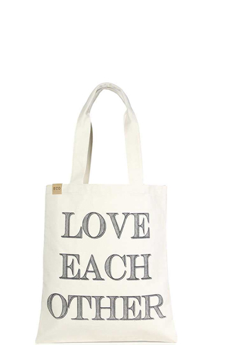 Love Each Other Canvas Bag