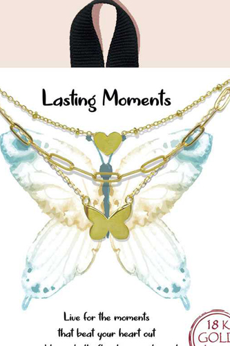 Blb Lasting Moments Layered Butterfly Necklace