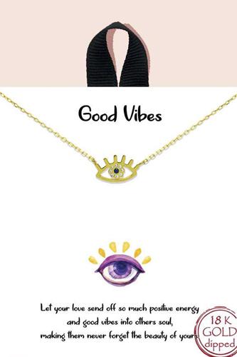 Blb Good Vibes Pendant Necklace