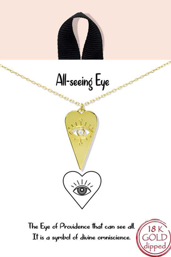 Blb All Seeing Eye Pendant Necklace