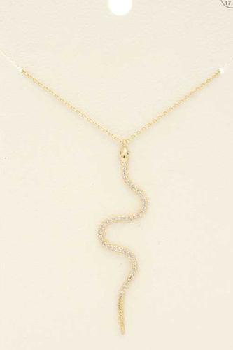 Rhinestone Snake Pendant Necklace