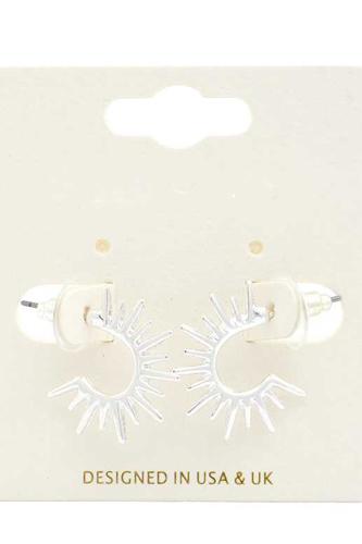 Sun Shape Metal Earring
