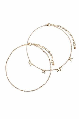 Mama Metal Chain 2 Pc Bracelet Set