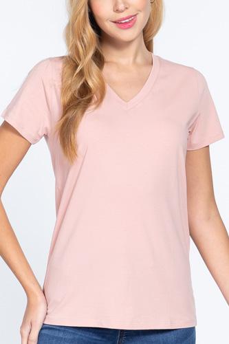 Short Sleeve V-neck Boxy Tee