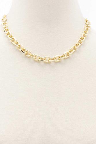 Oval Link Metal Earring