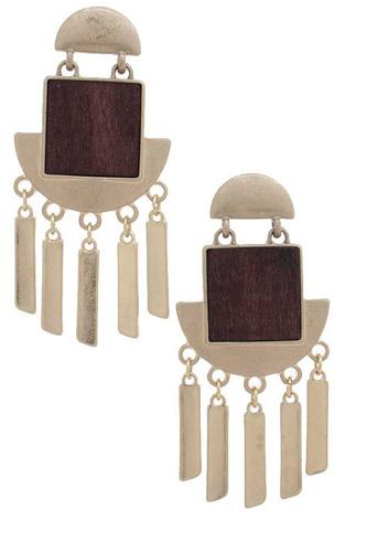 Metal Dangle Post Earring