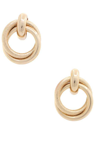 Double Circle Link Metal Earring