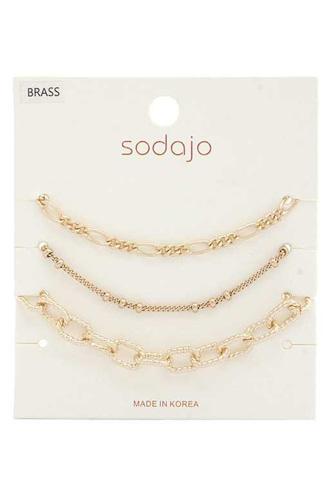 Sodajo Figaro Link Bracelet Set