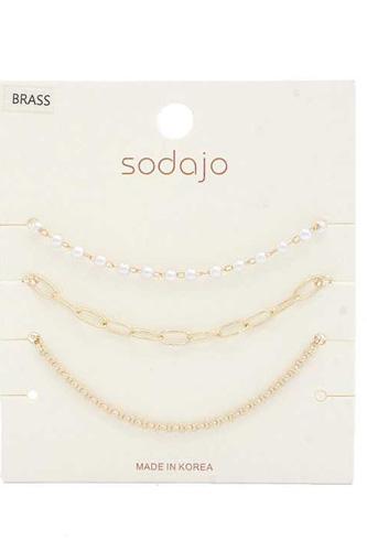 Sodajo Pearl Bead Bracelet Set