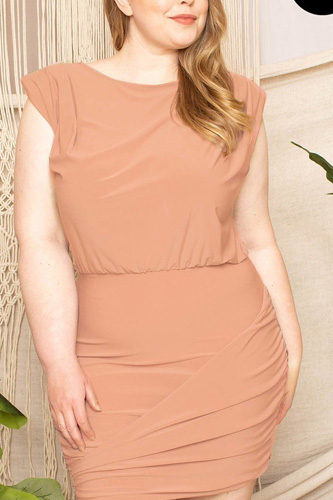 Shirring Detailed Mini Dress