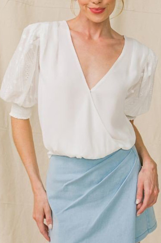 A Solid Woven Top